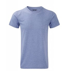 WOW sportswear Men WOW Tee Blue Marl