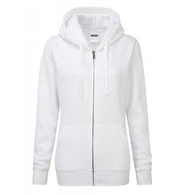 Ladies' Authentic Zipped Hood Classic White