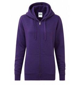 Ladies' Authentic Zipped Hood Classic Purple