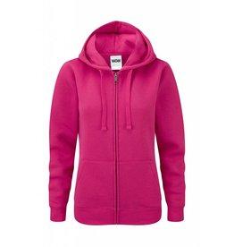 Ladies' Authentic Zipped Hood Classic Fuchsia
