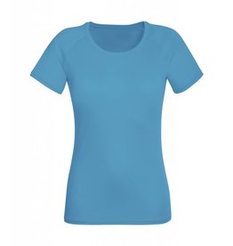 Lady Fit Performance T Azure Blue