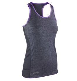 Spiro Women's Stringer Back Marl Top Grey Lavender