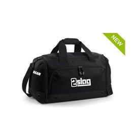 WOW sportswear Athletic Sportbag Black basic met naam