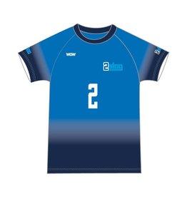WOW sportswear Shirt Raglan Heren 2Slag