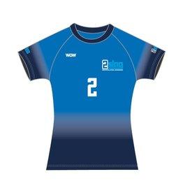 WOW sportswear Shirt Raglan Dames  2Slag
