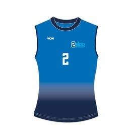 WOW sportswear Mouwloos Shirt Dames 2Slag