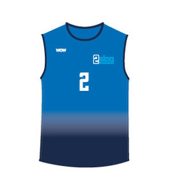 WOW sportswear Mouwloos Shirt Heren 2Slag