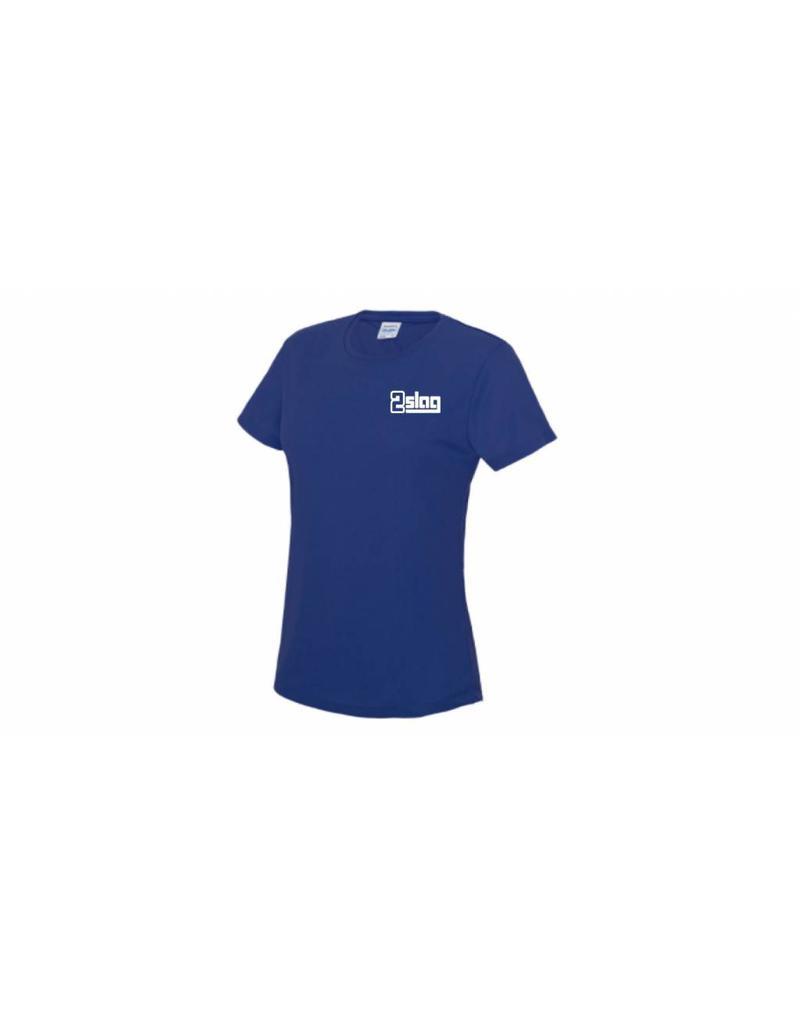 WOW sportswear Dames Sportshirt 2Slag met clublogo en borstnaam
