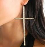 XL Cross Earrings (Gold)