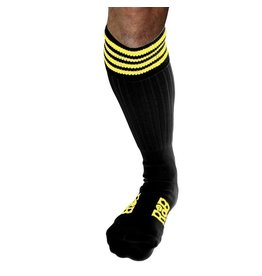 RoB RoB Boot Socks Black with Yellow Stripes