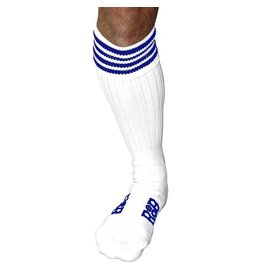 RoB RoB Boot Socks White with Blue Stripes
