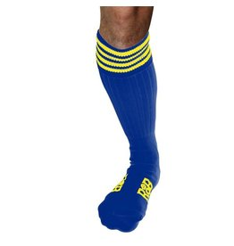 RoB RoB Boot Socks Blue with Yellow Stripes