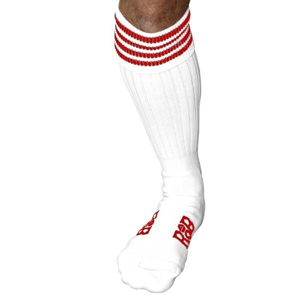 RoB RoB Boot Socks White with Red Stripes