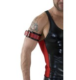 RoB Leather Bicepsband with Buckle, Red