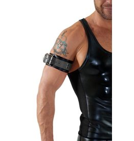 Leather Bicepsband with Buckle, Grey