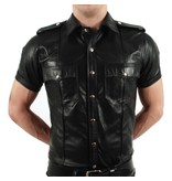 Police Shirt Cow Leather