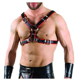 RoB Y-Front Harness black with red Piping