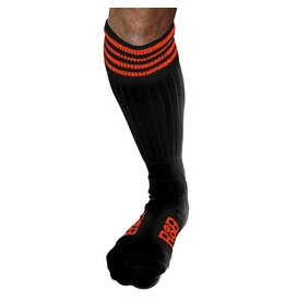 RoB RoB Boot Socks Black with Orange Stripes