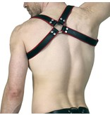 RoB Shoulder Harness black with red Piping