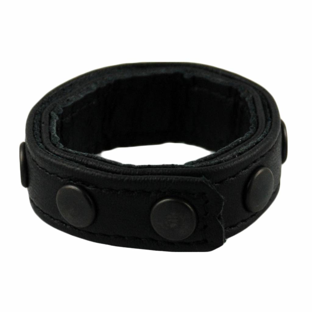 RoB 8-Snap Cockring Mini Black Studs