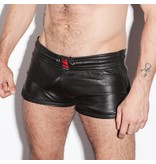 RoB Leather Sport Shorts with black stripes