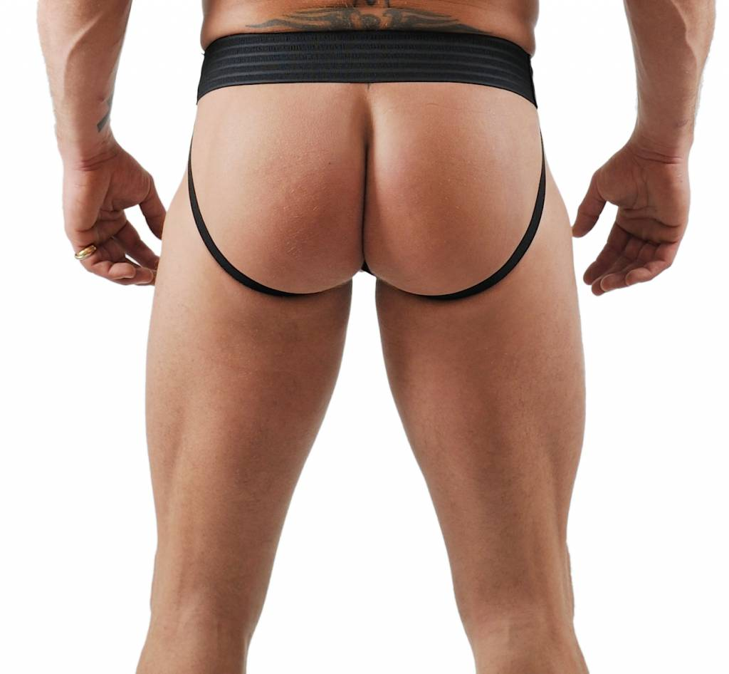 RoB F-Wear Jockstrap Black with Red Stripe