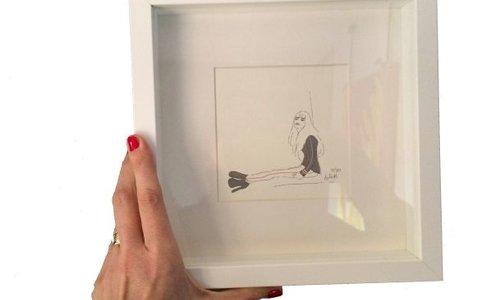 Size frame 23 x 23cm, thickness 3 cm  Size image 12 x 12cm