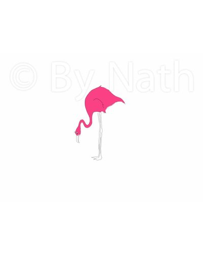 Art Print flamingo