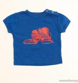 Lily Balou Blauwe T - Shirt met rode baskets, Lily Balou - 62