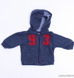 Filou & Friends Grijs sweatervestje, Petit Filou - 62