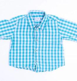 Filou & Friends Groen geruit hemdje, Petit Filou - 80