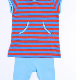 Filou & Friends Gestreept kleedje met legging, Petit Filou - 68