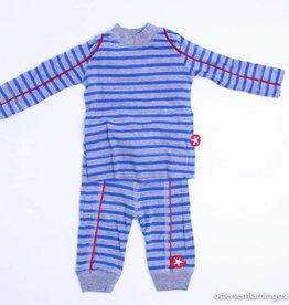Kik Kid Grijs/blauw gestreept setje, Kik Kid - 62