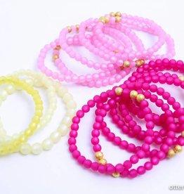 Mimz Donkerroze armbandje - Mimz