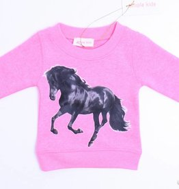Simple Kids Roze sweater paard, Simple Kids - 68