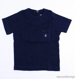 Petit Bateau  Donkerblauwe T - Shirt, Petit Bateau - 98