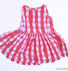 Maan Rood/wit geruit kleedje, Maan - 86