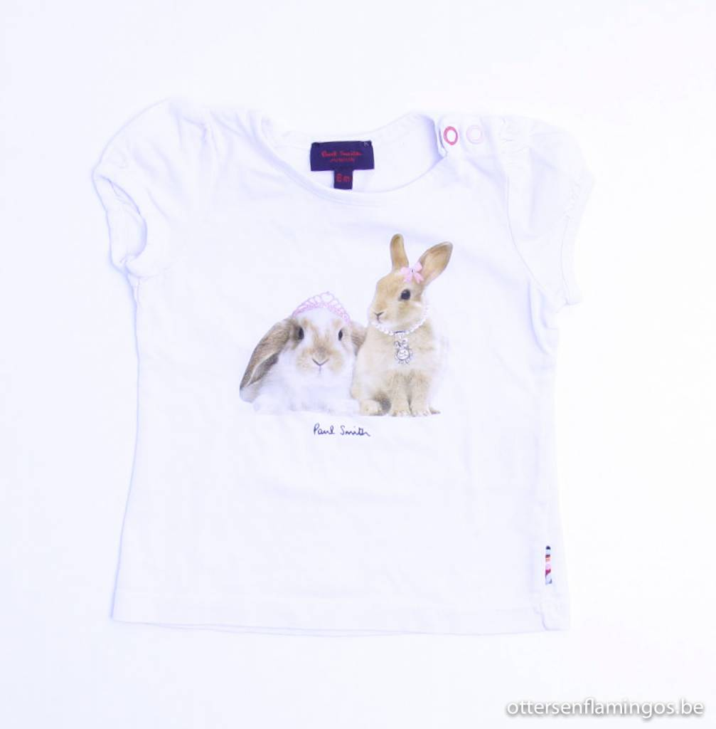 Paul Smith Junior art.nr. AG004 Witte T - Shirt, Paul Smith Junior ...