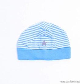 Filou & Friends Wit/blauw mutsje, Petit Filou - maat 0