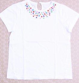 Filou & Friends Witte T - Shirt bolletjes, Filou en Friends - 128
