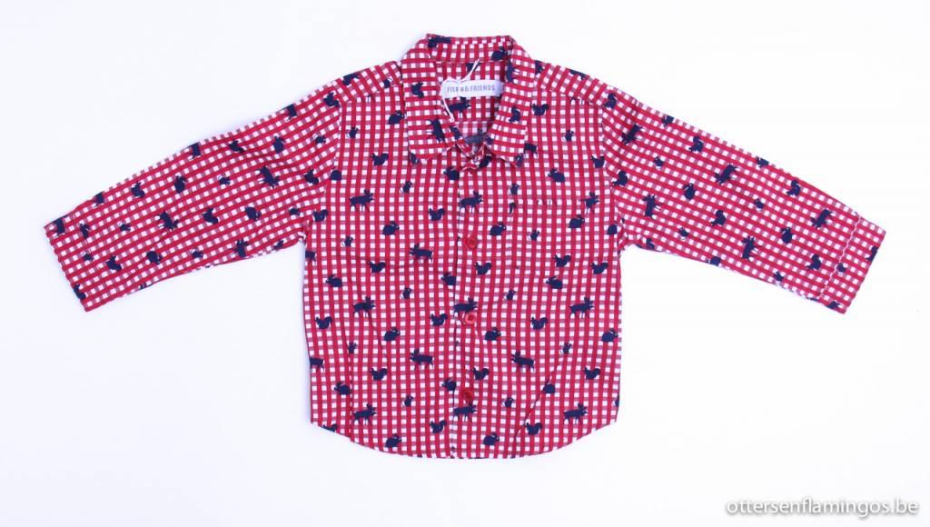 Filou & Friends art.nr. LU003 Geruit hemd dieren, Filou en Friends - 92