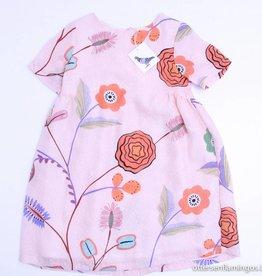 Etiket Prachtig roze kleedje bloemen, Etiket - 140