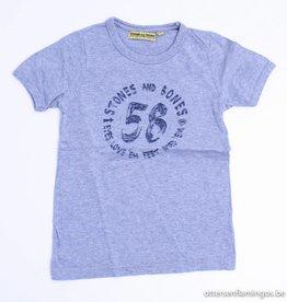 Stones en Bones Grijze T - Shirt, Stones en Bones - 116