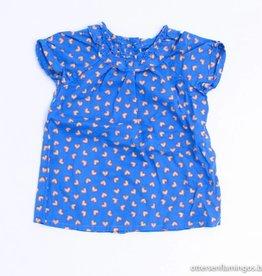 Filou & Friends Blauw blousje hartjes, Petit Filou - 62