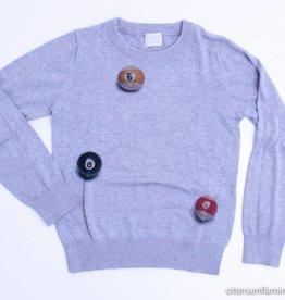 Etiket Grijze trui, Etiket - 140