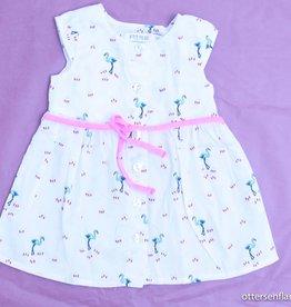 Filou & Friends Wit kleedje flamingo's, Petit Filou - 62