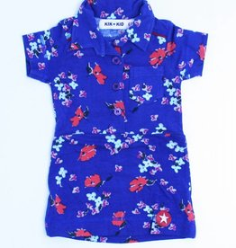 Kik Kid Blauw bloemenkleedje, Kik Kid - 62