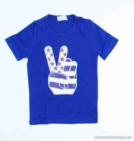 Simple Kids Blauwe T - Shirt, Simple Kids - 104