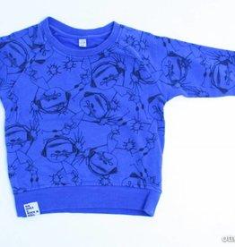 six hugs and rock 'n roll Blauwe sweater, Six hugs&Rock&Roll - 86/92