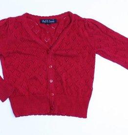 Petit Louie Rode cardigan, Petit Louie - 110/116